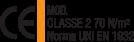 Mod. Classe 2 70 N/Mq - Norma UNI EN 1932